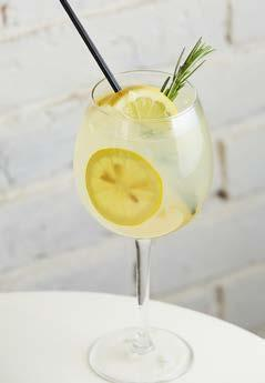 TONICS TOM COLLINS Gin, lemon juice, syrup, sparkling water, ice