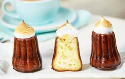 16 ± 1 0 0 g CANELÉS Cake with crunchy coating and soft interior of milk, eggs, rum